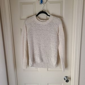 Abercrombie & Fitch Cream Sweater with Sequins